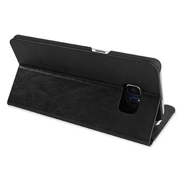 Olixar Leather-Style Samsung Galaxy S6 Edge Plus Wallet Case - Black