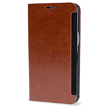 Olixar Leather-Style Samsung Galaxy S6 Edge Plus Wallet Case - Brown