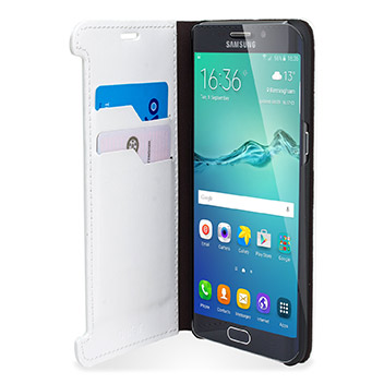 Olixar Leather-Style Samsung Galaxy S6 Edge Plus Wallet Case - White