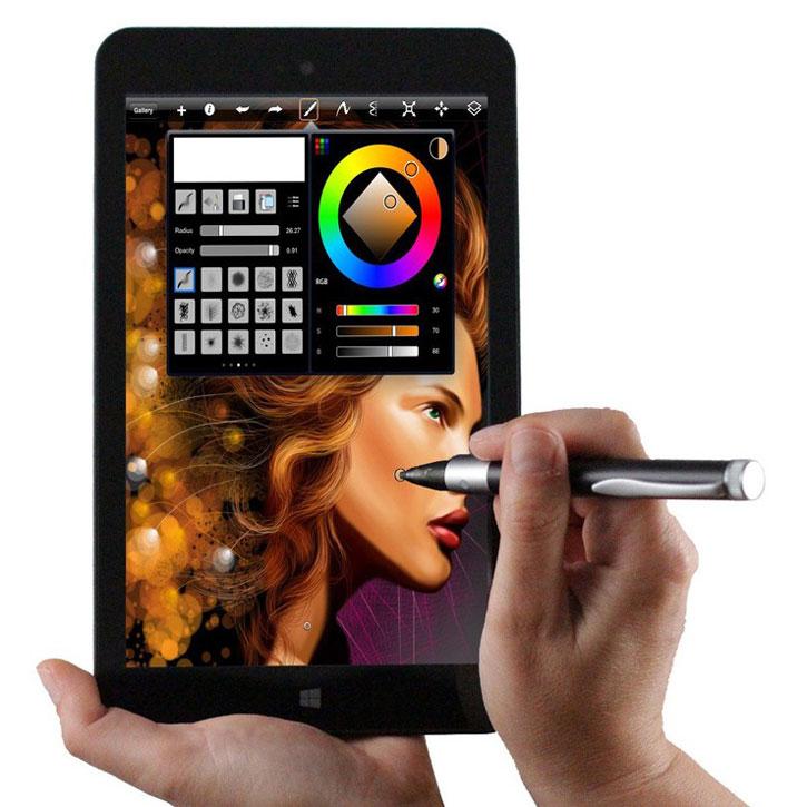 Broonel Silver Pro Works Active Stylus Pen - Grey