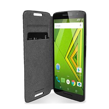 new product 47de5 90130 Official Motorola Moto X Play Flip Shell Cover - Black