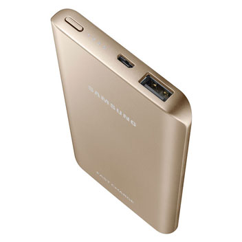Samsung Portable 5,200mAh Fast Charge Battery Pack - Gold