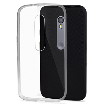 FlexiShield Ultra-Thin Motorola Moto G 3rd Gen Gel Case - 100% Clear