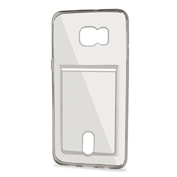 FlexiShield Slot Samsung Galaxy S6 Edge Plus Gel Case - Grey Tint