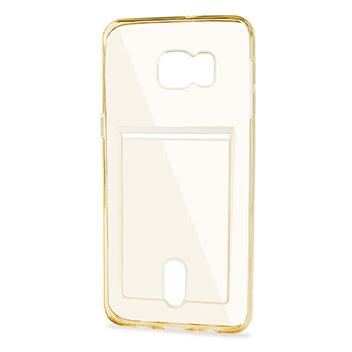 FlexiShield Slot Samsung Galaxy S6 Edge Plus Gel Case - Gold Tint