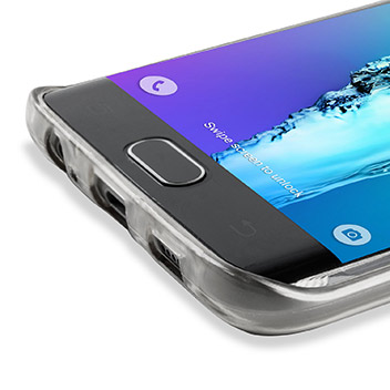 FlexiShield Slot Samsung Galaxy S6 Edge Plus Gel Case - Crystal Clear