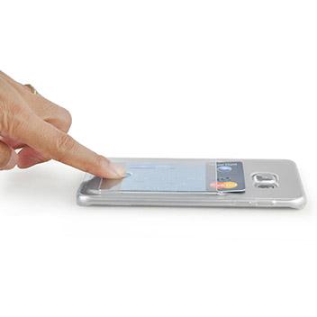 FlexiShield Slot Samsung Galaxy S6 Edge Plus Gel Case - Crystal Clear