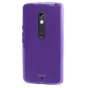 FlexiShield Motorola Moto X Play Gel Case - Purple