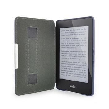 Olixar Leather-Style Kindle Paperwhite Case - Navy