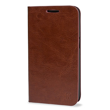 Olixar Leather-Style Samsung Galaxy Core Prime Wallet Case - Brown
