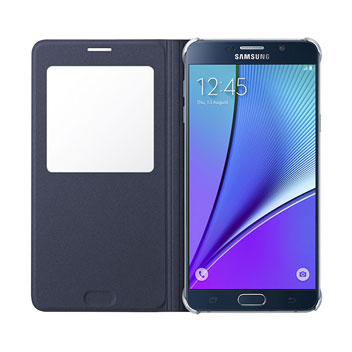 Official Samsung S-View Galaxy Note 5 Case - Black Sapphire