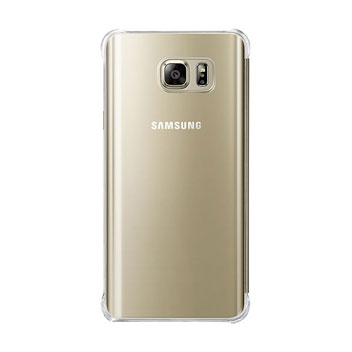 Official Samsung Galaxy Note 5 Clear View Case - Gold