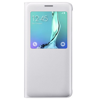 Official Samsung Galaxy S6 Edge Plus S View Cover Case - White