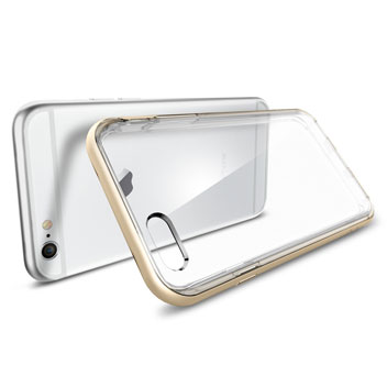 Spigen Neo Hybrid Ex iPhone 6S / 6 Bumper Case - Champagne Gold