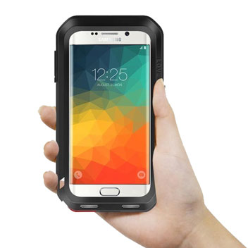Love Mei Powerful Samsung Galaxy S6 Edge+ Protective Case - Black