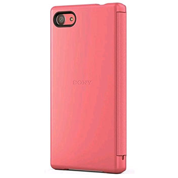 Sony Xperia Z5 Compact Style-Up Smart Window Cover Case - Coral