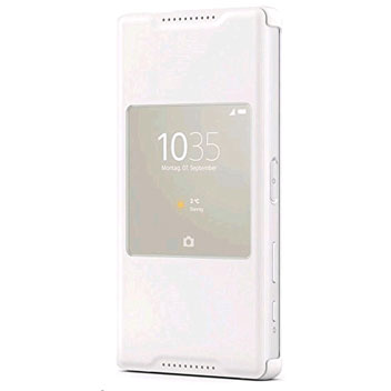 Sony Xperia Z5 Compact Style-Up Smart Window Cover Case - White