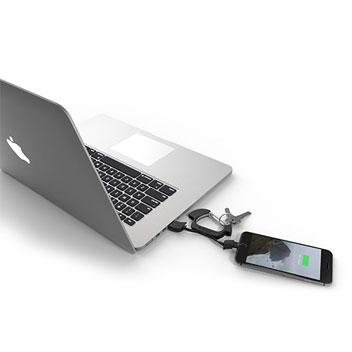 Mousqueton Chargeur Lightning / USB NomadCLIP