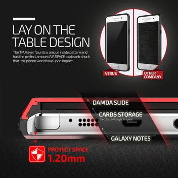 Verus Damda Slide Samsung Galaxy Note 5 Case - Crimson Red