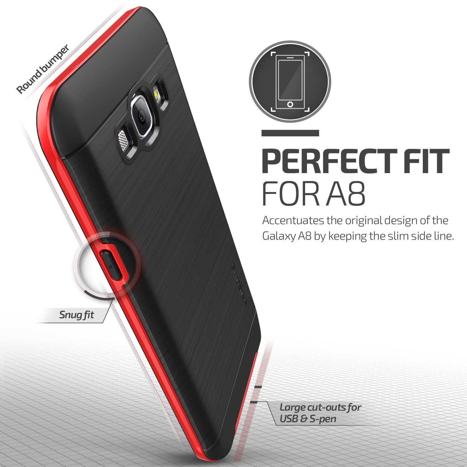 Verus High Pro Shield Series Samsung Galaxy A8 - Crimson Red