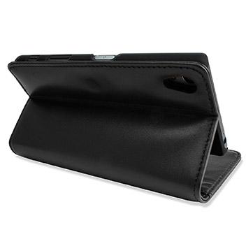 Olixar Sony Xperia Z5 Genuine Leather Wallet Case - Black