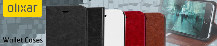 Olixar Leather-Style iPhone 6S / 6 Wallet Stand Case - White