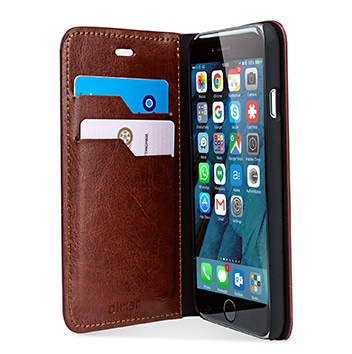 Olixar Leather-Style iPhone 6S / 6 Wallet Stand Case - Brown