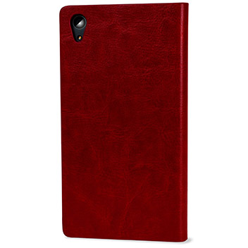 Olixar Leather-Style Sony Xperia Z5 Premium Wallet Stand Case - Red