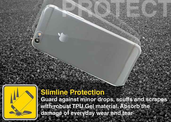 Olixar Ultra-Thin iPhone 6S Gel Case - 100% Clear