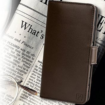 Olixar Sony Xperia Z5 Premium Genuine Leather Wallet Case - Brown