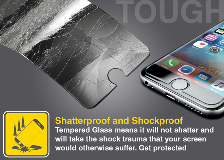 Olixar Quicktap iPhone 6S Tempered Glass Screen Protector