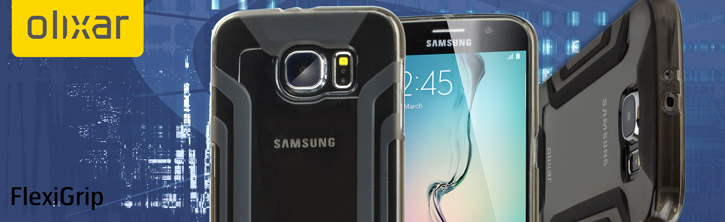 FlexiGrip Samsung Galaxy S6 Gel Case - Smoke Black