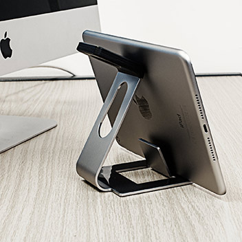 Aluminium Apple Watch Stand with iPhone and iPad Holder - Grey