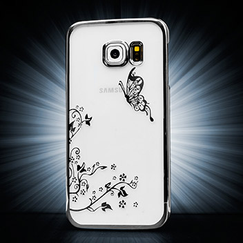 Olixar Butterfly Samsung Galaxy S6 Edge Shell Case - Silver / Clear