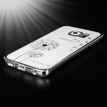 Olixar Dandelion Samsung Galaxy S6 Edge Shell Case - Silver / Clear