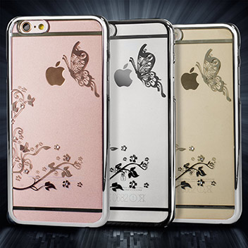 Olixar Butterfly iPhone 6S / 6 Shell Case - Silver / Clear