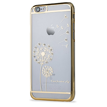 Olixar Dandelion iPhone 6S / 6 Shell Case - Gold / Clear