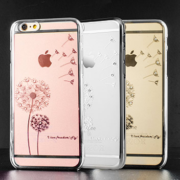 Olixar Dandelion Iphone 6s 6 Shell Case Silver Clear