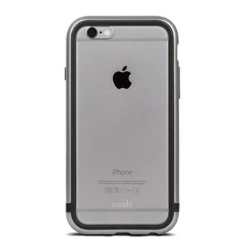 Moshi iGlaze Luxe iPhone 6S Bumper Case - Space Grey
