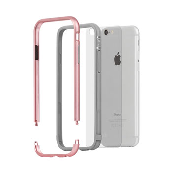 Moshi iGlaze Luxe iPhone 6S Bumper Case - Rose Gold