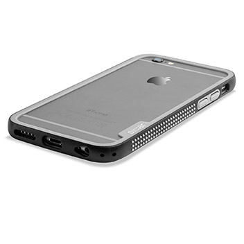Olixar FlexiFrame iPhone 6S Bumper Case - Black / Grey