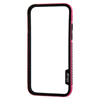 Olixar FlexiFrame iPhone 6S Bumper Case - Hot Pink