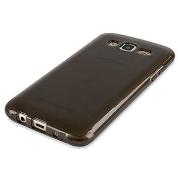 FlexiShield Samsung Galaxy J5 Gel Case - Smoke Black