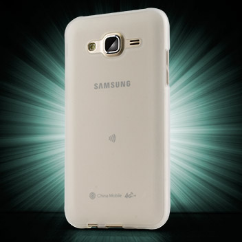 FlexiShield Samsung Galaxy J5 Gel Case - Frost White