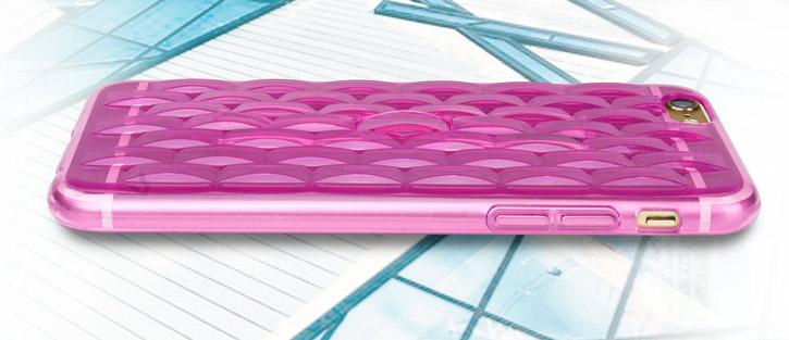FlexiLoop iPhone 6S Plus Gel Case with Finger Holder - Rose Pink