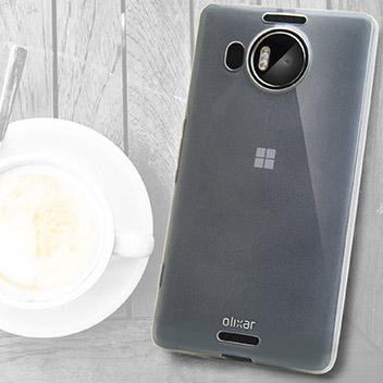 FlexiShield Microsoft Lumia 950 XL Gel Case - Frost White