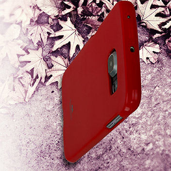 Mercury Goospery Jelly Samsung Galaxy S6 Edge Gel Case - Red
