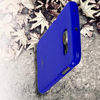 Mercury Goospery Jelly Samsung Galaxy S6 Edge Plus Gel Case - Blue