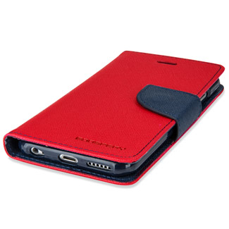 Mercury Goospery Fancy Diary iPhone 6S Plus / 6 Plus Case - Red / Navy