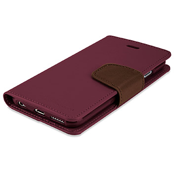 Mercury Sonata Diary iPhone 6S Plus / 6 Plus Premium Wallet Case - Wine